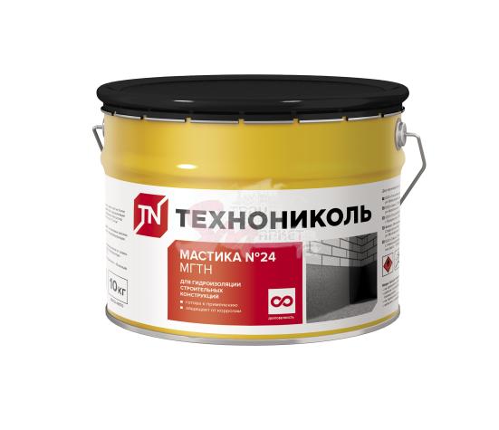 Мастика гидроизоляционная ТехноНИКОЛЬ № 24 (МГТН) 10 кг.