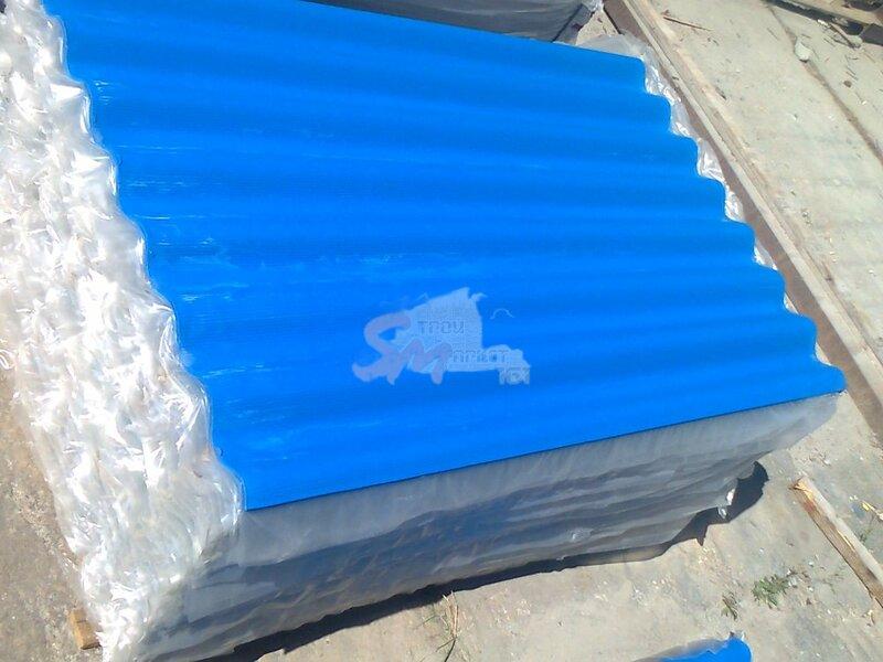8-ми волн. Синий 1750х1130х5,2 мм ТУ