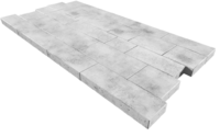 """Плитка тротуарная гладкая """"Тракт"""" h60 (на белом цементе)"""
