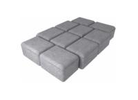 """Плитка тротуарная гладкая """"Аурико"""" h60 (на сером цементе)"""
