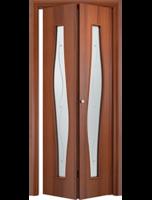 """Дверь складная """"Волна"""" Ламинат (ДО-4)"""