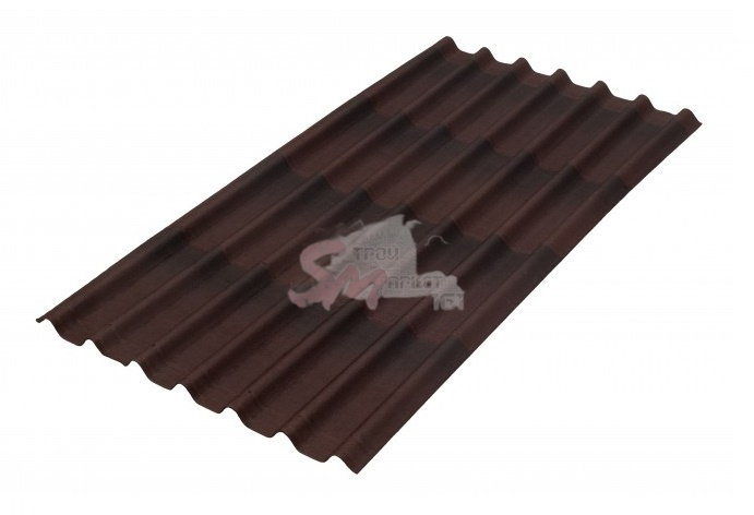 Черепица Однулин коричневая 1950х960 мм.