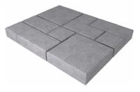 """Плитка тротуарная гладкая """"Винтаж"""" h60 (на сером цементе)"""
