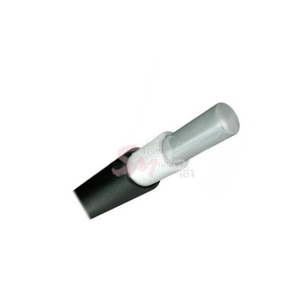 Вилка одофазная 2р+РЕ 1х16А 220В каучук