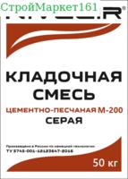 """Кладочная смесь """"NIVELIR M-200"""" (Пескобетон) 50 кг."""