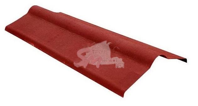 Конек для Ондулина красный 1000х360 мм.
