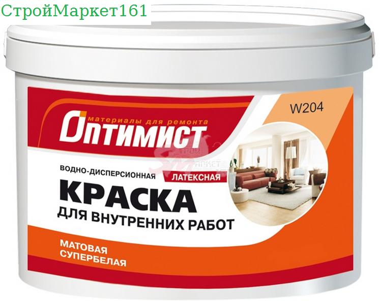 """Краска В/Э W204 латекс """"Оптимист"""" 3 кг."""