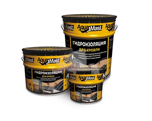 Мастика битумно-резиновая AquaMast 3 кг. (кровля)
