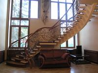 Лестница №6 (Металлокаркас, Дуб)