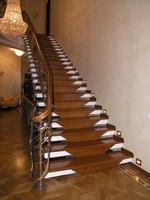 Лестница №5 (Металлокаркас, Дуб)