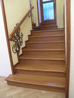 Лестница №7 (Обшивка бетонного марша, дуб)