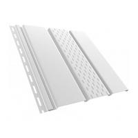 Панель софит перфорированная 4000х305 мм. (белый).