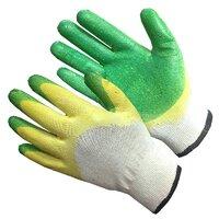 Перчатки зеленые с двойным латексным покрытием (10/100)