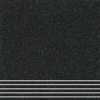 Плитка керамогранит Техногрес 300х300 (Черный) ступени/рельеф