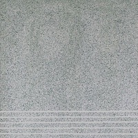 Плитка керамогранит Техногрес 400х400 (Серый) ступени/рельеф