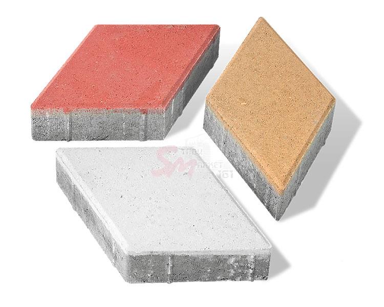 Ромб фактурный h60 (на белом цементе)