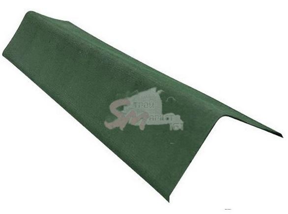 Щипцовый элемент для Ондулина зеленый 1000х200 мм.