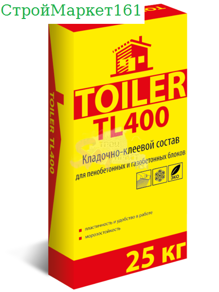 """Смесь монтажная Toiler """"TL-400"""" 25 кг."""