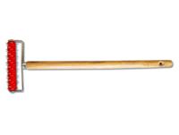 Валик игольчатый деревянная ручка для прокалывания обоев и гкл (500 мм.)