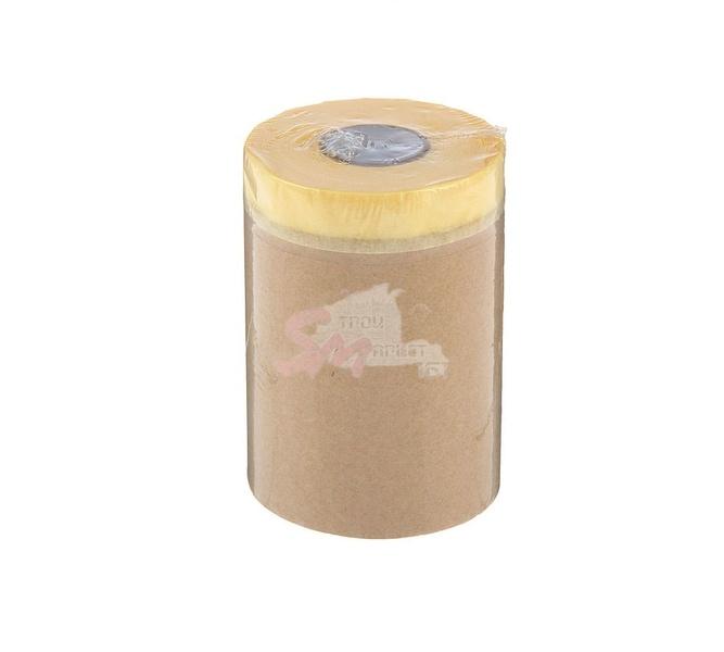 Защитная бумага с креповой клеящей лентой (устойчива к температуре до 60°С) 3000х20000 мм